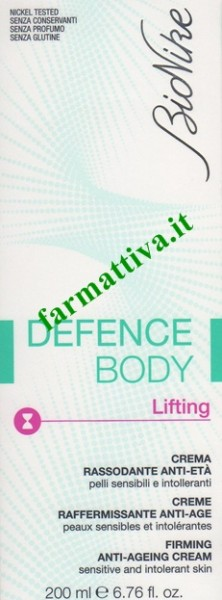 Bionike defence body Lifting crema rassodante anti età 200ml