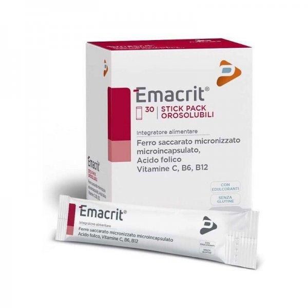 Emacrit 30 Stick Pack Orosolubili