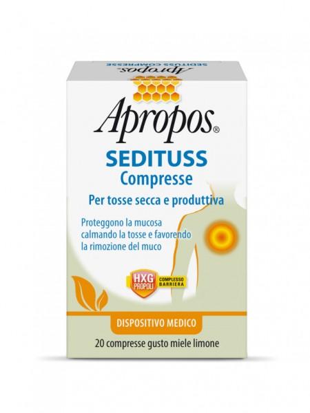 Apropos Sedituss compresse per tosse secca e produttiva al miele e limone