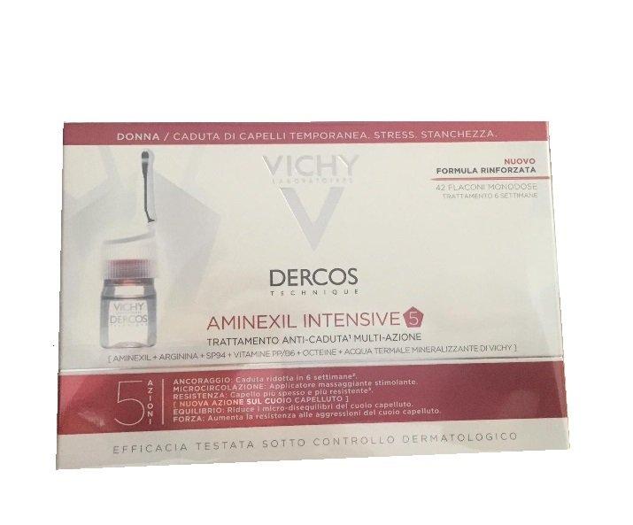 Vichy Aminexil Intensive5 Trattamento anticaduta Donna 42 Flaconi Monodose