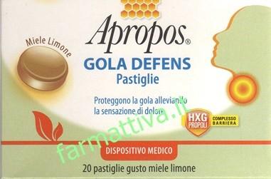 Apropos gola defens pastiglie gusto miele limone