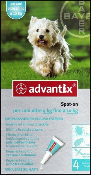 Bayer Advantix Antiparassitario per cani oltre 4kg fino a 10kg