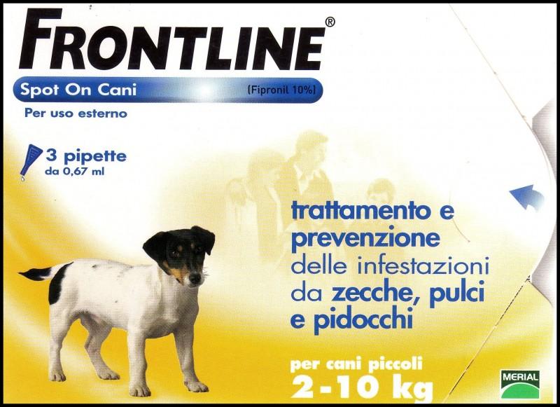 Frontline spot on cani 2-10kg