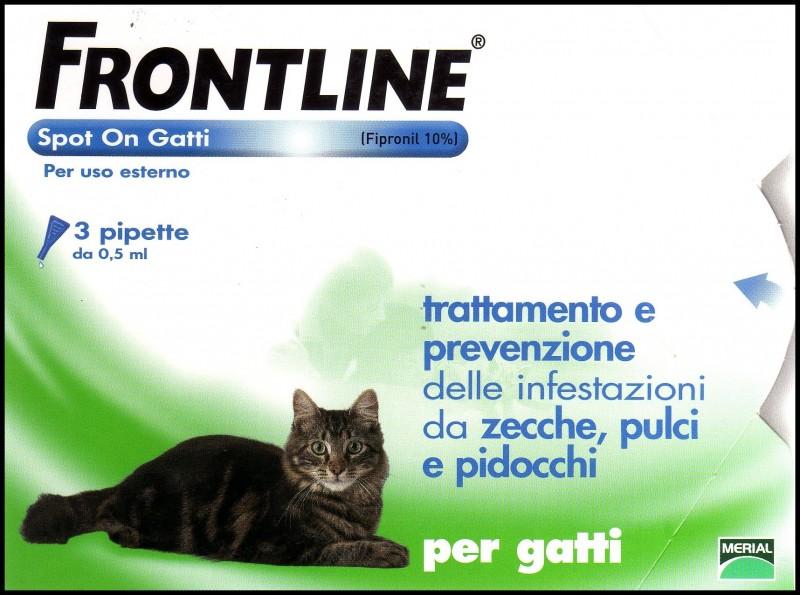 Frontline spot on gatti Fipronil 10%