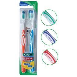 Gum spazzolino superTip 463 medio 2  pezzi