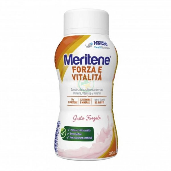 Meritene Forza e Vitalità Drink Fragola 200 ml Proteico