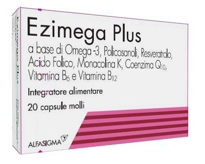 Ezimega Plus 20 Capsule Molli Integratore Colesterolo
