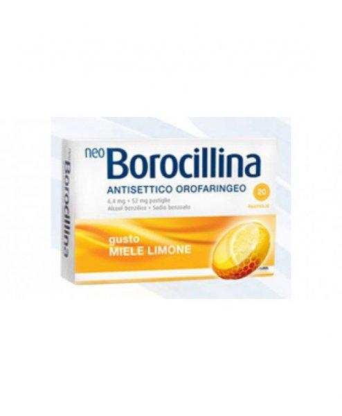 NEOBOROCILLINA ANTISETTICO OROFARINGEO 16PASTIGLIE MIELE LIMONE