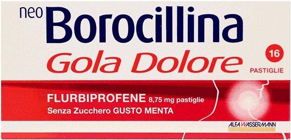 NEOBOROCILLINA GOLA DOLORE 16PST MENTA Senza Zucchero