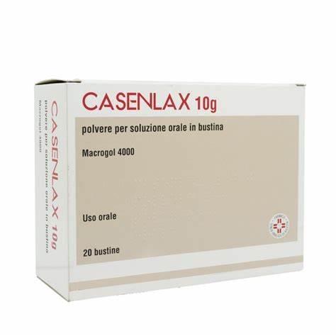 Casenlax Polvere 10 g Macrogol 4000 20 Bustine