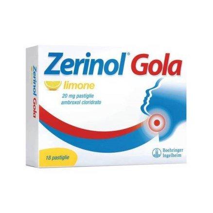 ZERINOL GOLA LIMONE 18 PASTIGLIE 20MG