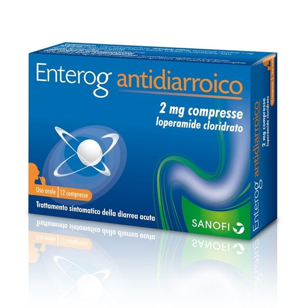 ENTEROG ANTIDIARROICO 12 COMPRESSE 2MG