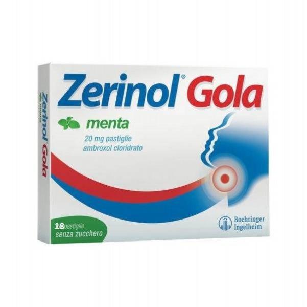 ZERINOL GOLA MENTA 18PAST 20MG