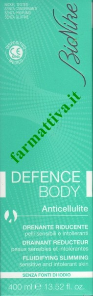 Bionike Defence Body Anticellulite drenante riducente 400 ml