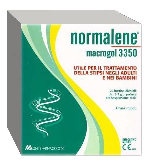 Normalene Macroglol 3350 20Bustine Integratore ad Azione Lassativa