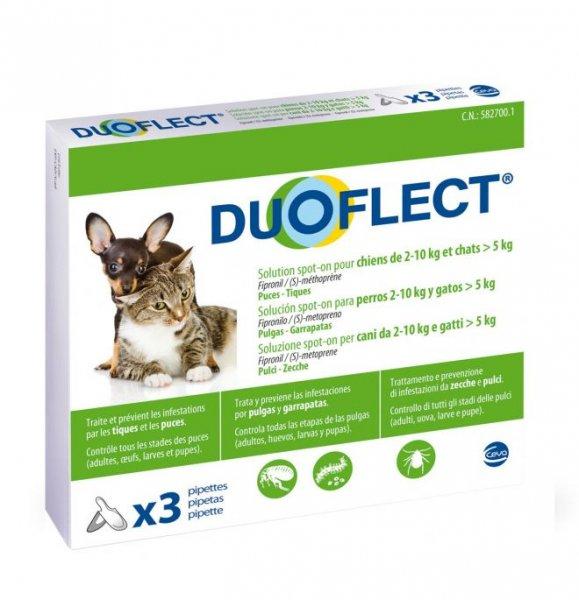 Duoflect 3 pip 0.7ml spot on CANI 2-10 Kg e GATTI > 5 Kg