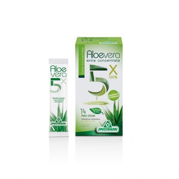 Specchiasol Aloevera 5x 100% extra concentrata - mini drink