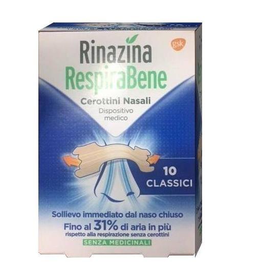 RINAZINA RESPIRABENE CLASSICI 10 CEROTTI