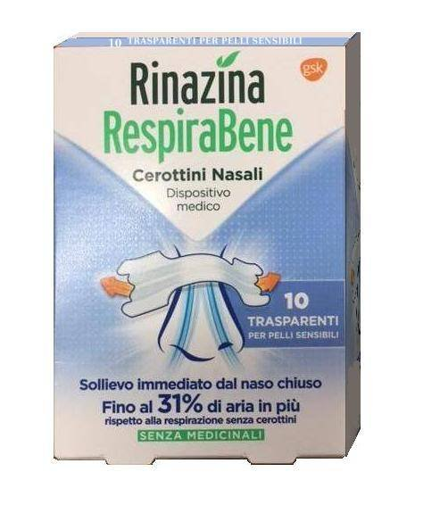RINAZINA RESPIRABENE TRASPARENTI 10 CEROTTI