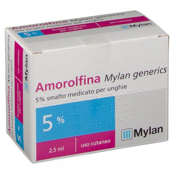 AMOROLFINA MYLAN SMALTO MEDICATO PER UNGHIE 2,5ML 5%