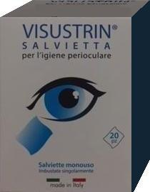 Visustrin Salviette Oculari 20 Pezzi