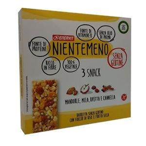 ENERVIT NIENTEMENO 3 SNACK MANDORLE MELA UVETTA E CANNELLA