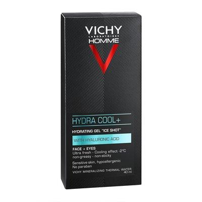 Vichy Homme Hydra Cool Gel Idratante Effetto Ghiaccio Viso e Occhi  50 ml