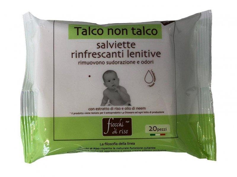 FIOCCHI DI RISO TALCO NON TALCO SALVIETTE 20 PEZZI