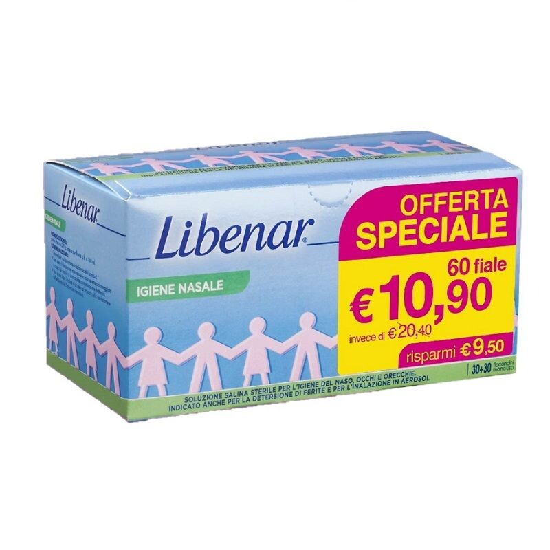 Libenar soluzione fisiologica 60 flaconcini 5 ml