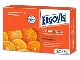 Ergovis vitamina C 500mg 20 compresse masticabili gusto arancia