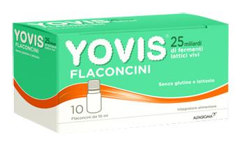 Yovis Flaconcini 25 Miliardi Fermenti Lattici Vivi 10 Flaconcini