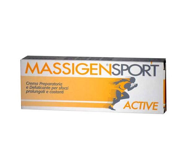 Massigen sport crema preparatoria e defaticante per sforzi prolungati e costanti