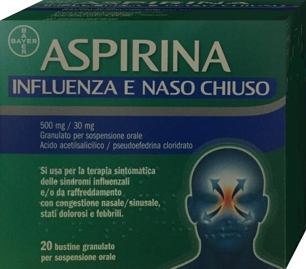 ASPIRINA INFLUENZA NASO CHIUSO 20 BUSTINE