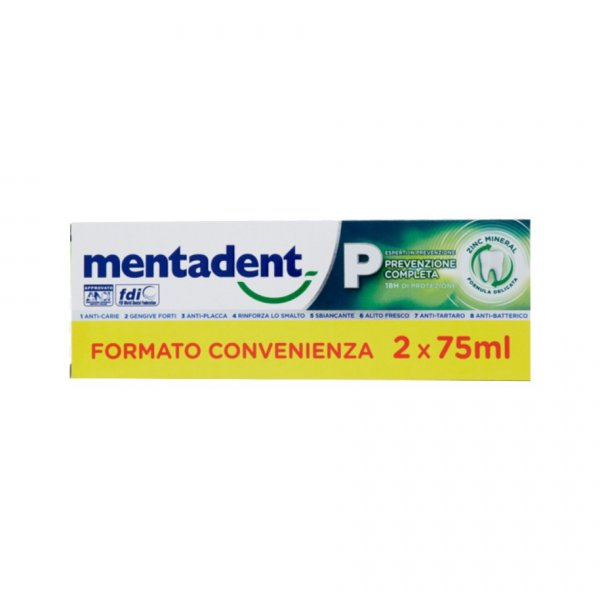 MENTADENT P 2 TUBI DA 75 ML
