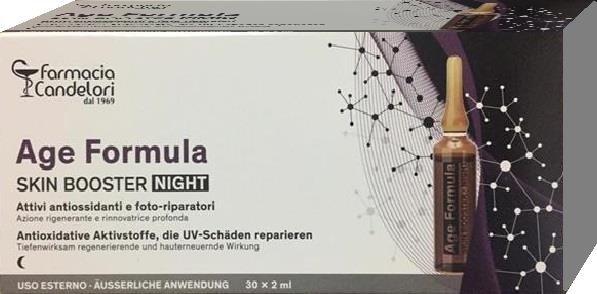 Farmacia Candelori Age Formula Skin Booster Night 30 Ampolle