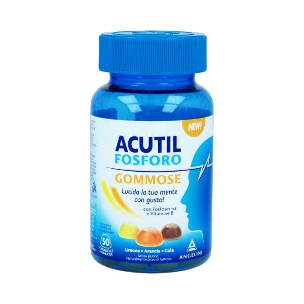 Acutil Fosforo Gommose 50 Caramelle Memoria Concentrazione