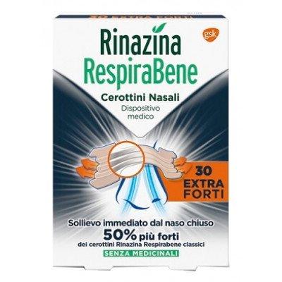 Rinazina RespiraBene Extraforte 30 Pezzi Cerottini Nasali