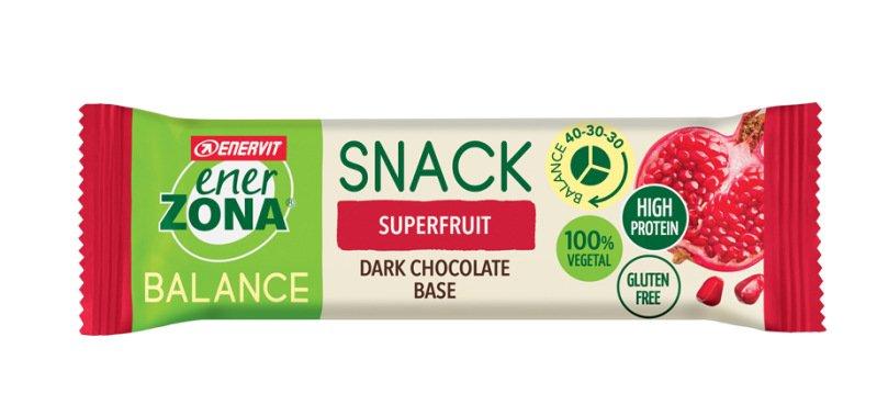 ENERZONA SNACK SUPER FRUIT barretta a base di chicchi di melograno e cioccolato fondente 25G