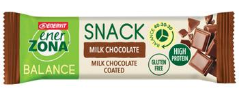 ENERZONA SNACK MILK CHOCOLATE barretta al cioccolato al latte 33G
