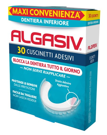 Algasiv Cuscinetti Adesivi Inferiori 30 Pezzi