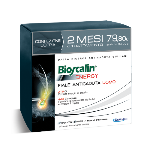 Bioscalin Energy FIale Anticaduta Uomo 20 Fiale 2 Mesi di trattamento