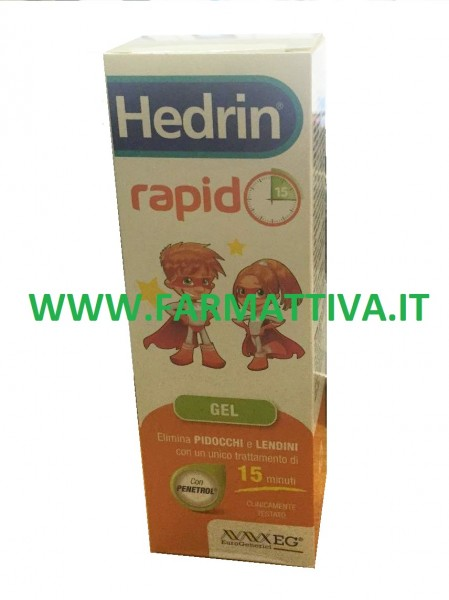 Hedrin Rapido Gel Liquido elimina pidocchi e lendini