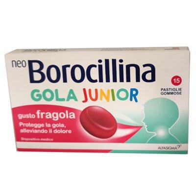 NEOBOROCILLINA GOLA JUNIOR 15 PASTIGLIE GOMMOSE FRAGOLA