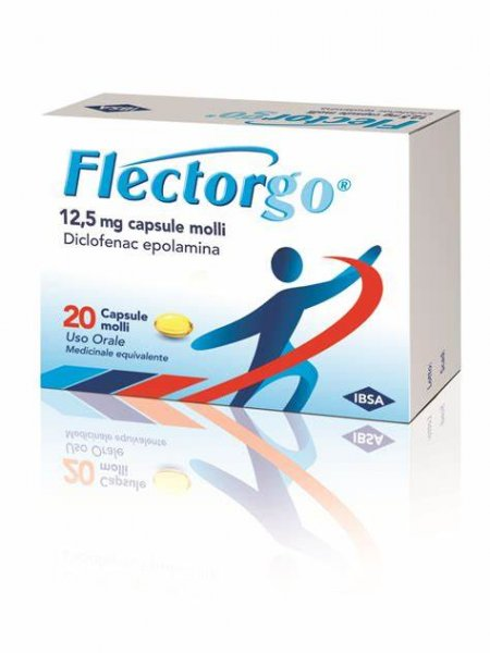 Flectorgo 12,5 mg 20 Capsule Antidolorifico