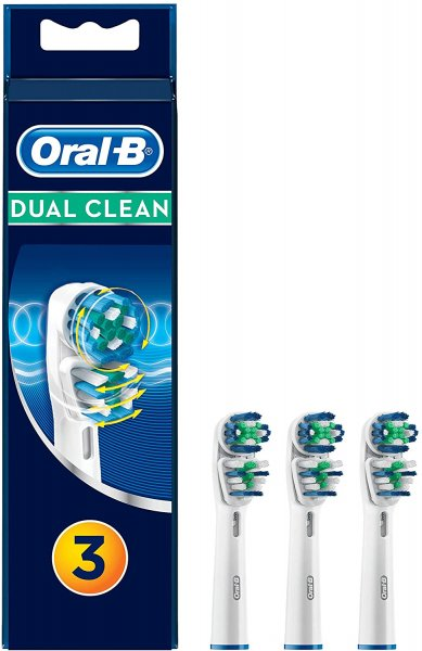 Oral B Dual Clean 3 Testine di Ricambio