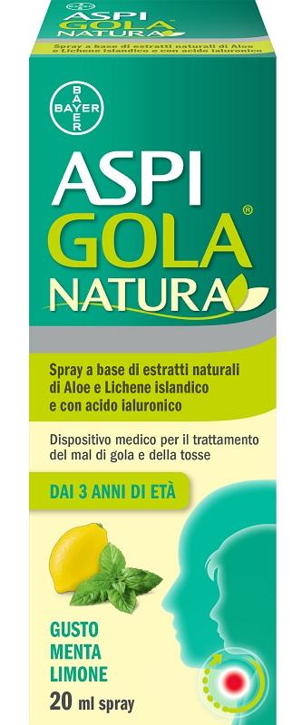 Aspi Gola Natura Spray Gola 20 ml Menta Limone