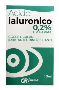 Gr Farma Gocce Oculari Acido Ialuronico 0,2% 10 ml Idratante Rinfrescante