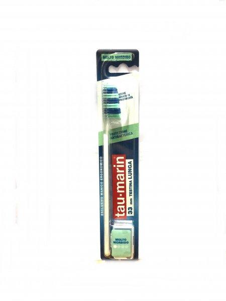 Tau Marin Spazzolino Protezione Antibatterica 33 mm Testina Lunga Molto Morbido