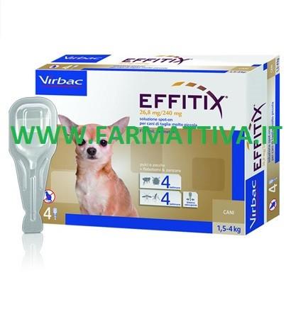 Virbac Effitix soluzione spot on per cani di taglia molto piccola 1.5 - 4 kg