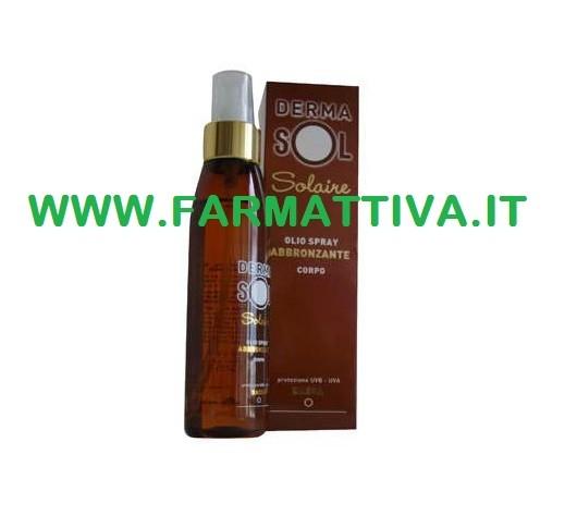 Derma Sol Solaire Olio Spray Abbronzante Corpo Protezione Basa